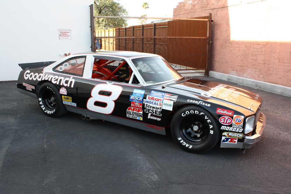 black dale earnhardt number eight front three-quarter