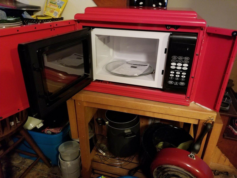 tool company microwave doors open