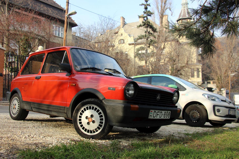 red front three-quarter car
