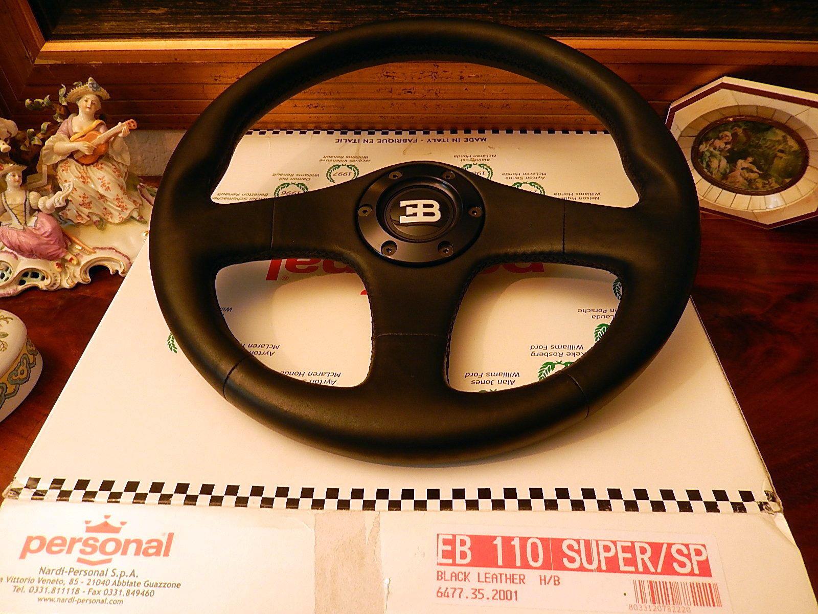 black personal bugatti wheel