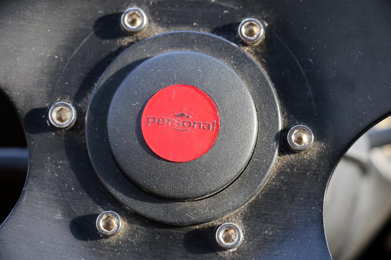 steering wheel center detail