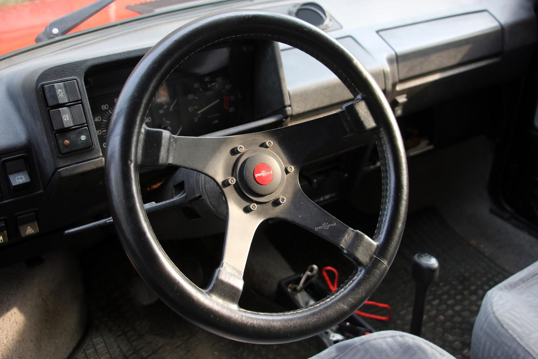 steering wheel interior front