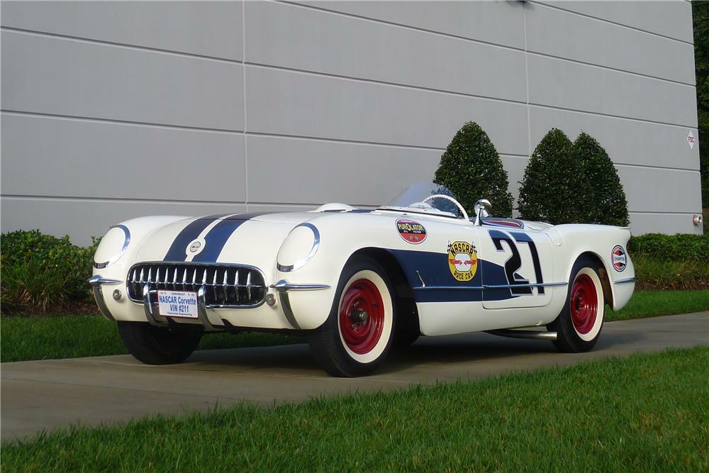 1953 Chevrolet Corvette Roadster Race Car front three-quarter