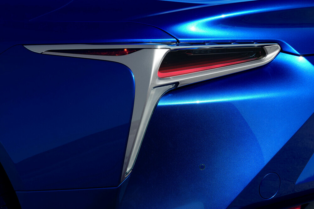 rear taillight close-up