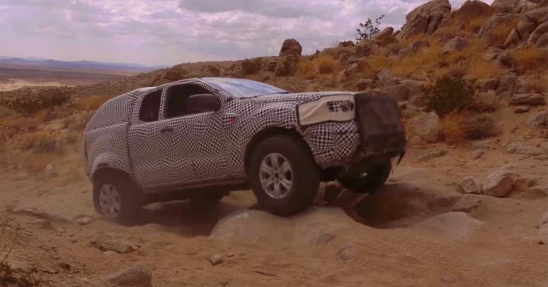 prototype bronco off-road testing