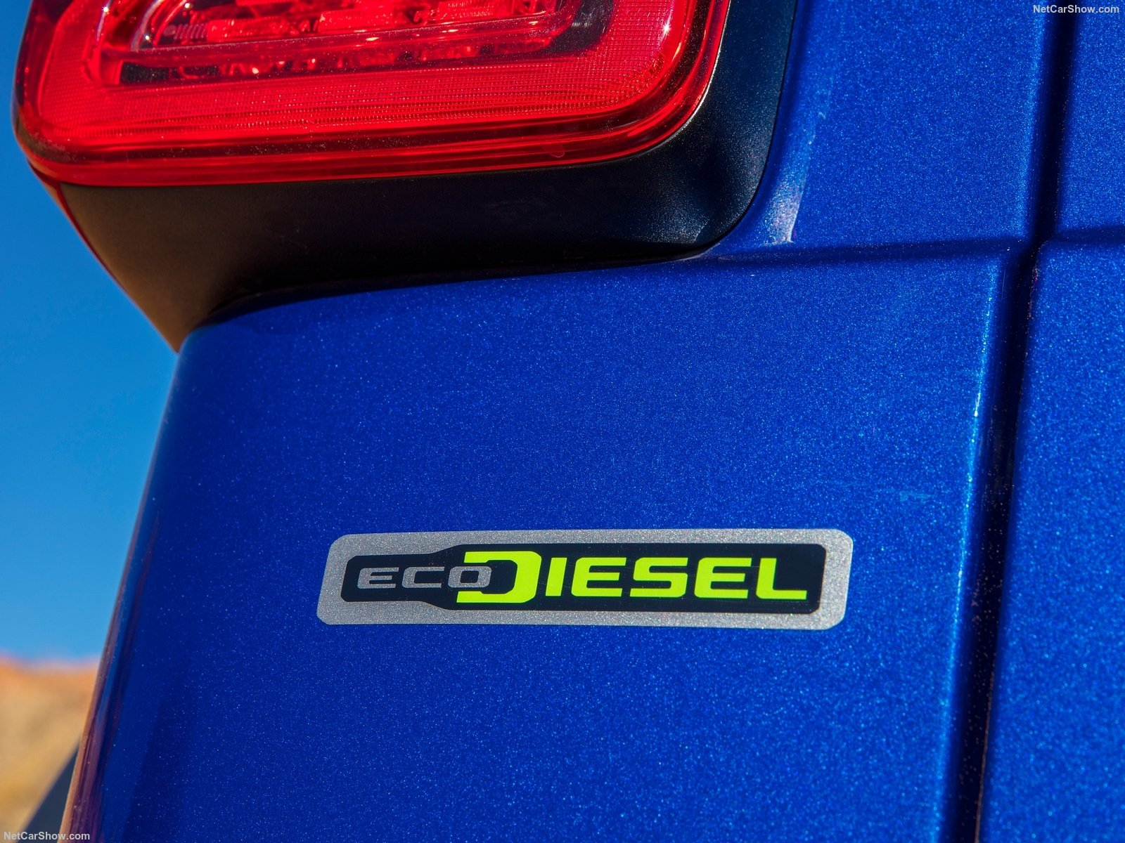 2020 blue rubicon eco-diesel logo badge