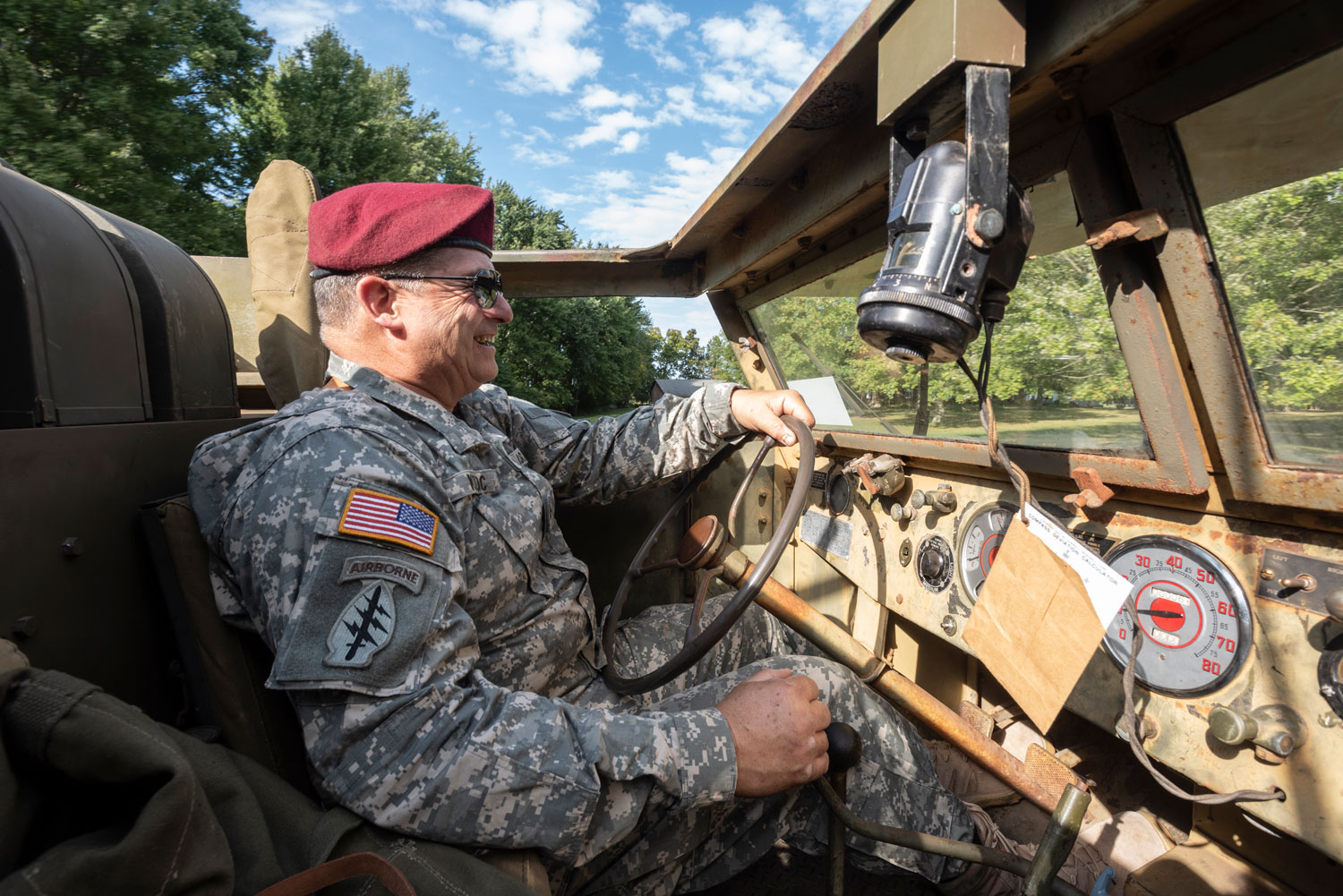 Lieutenant Colonel Koloc is right at home behind the wheel of his 1943 White M16A2. His acreage in southwest Ohio is the perfect place to exercise his historic machine.