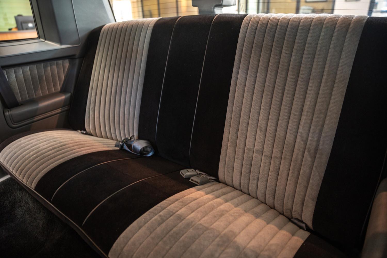 1987 Buick GNX interior back seat