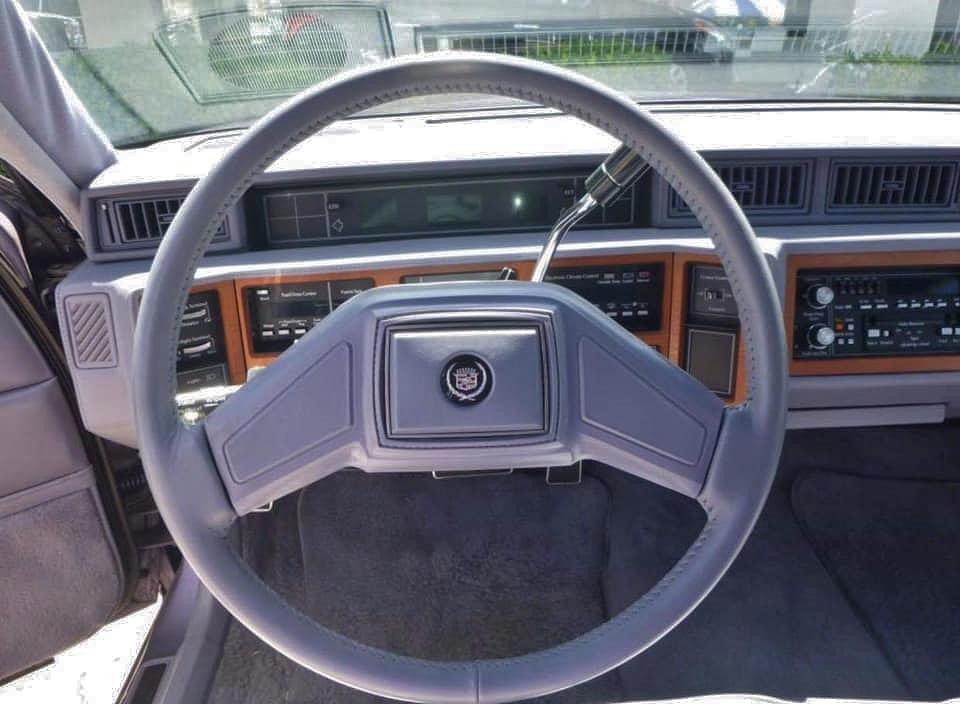 80s cadillac interior steering wheel