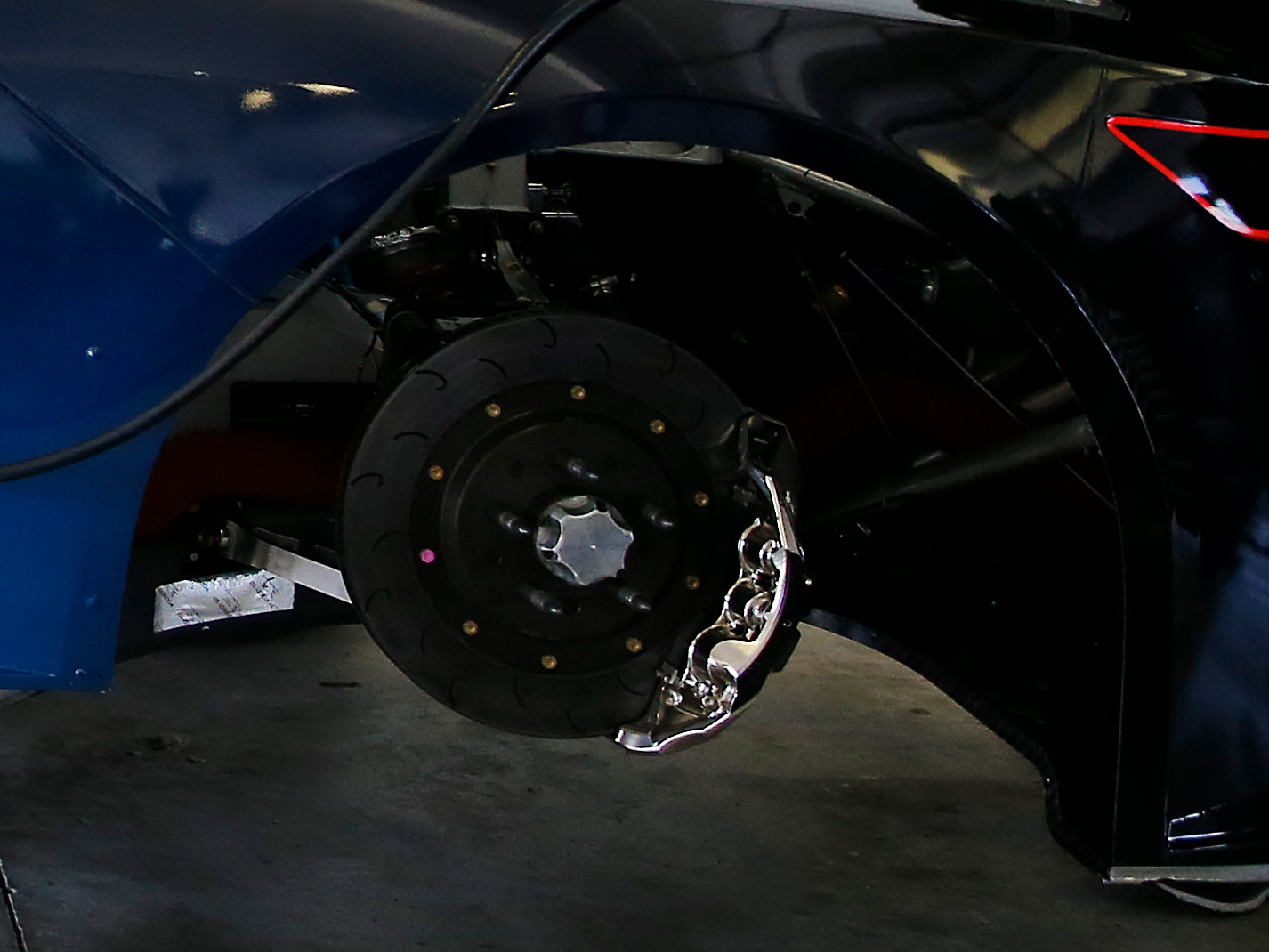 front brake and caliper close-up