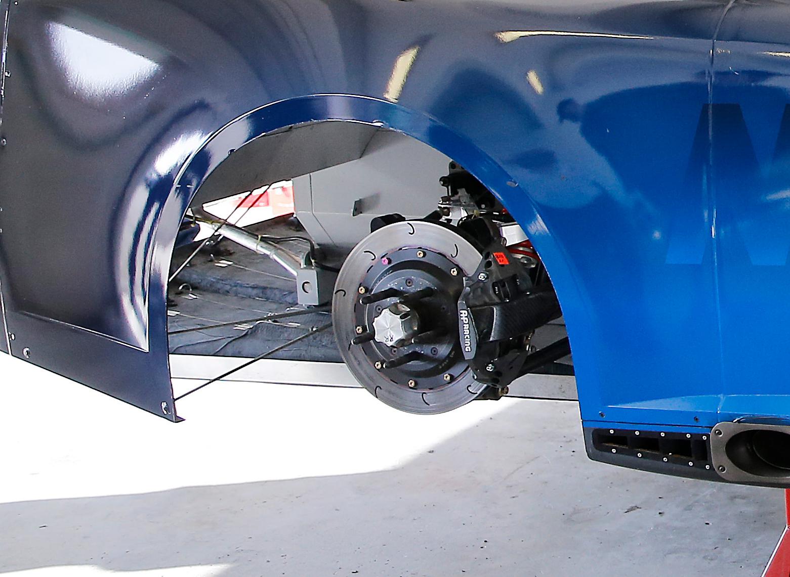 rear brake and caliper close-up
