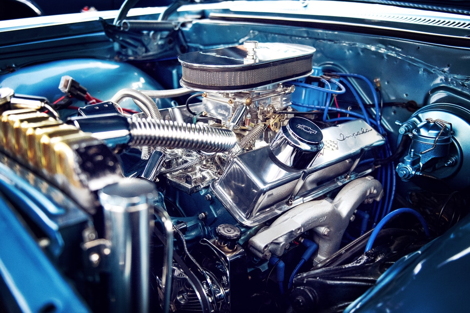 classic chevrolet impala engine bay