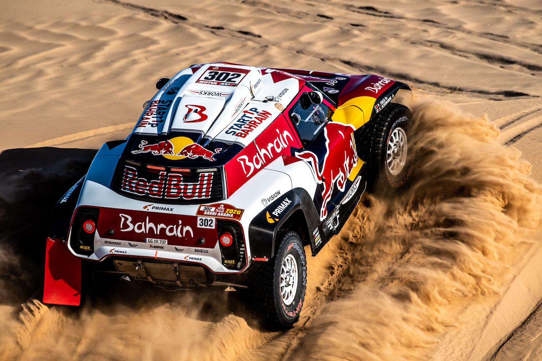 rally car on sand action