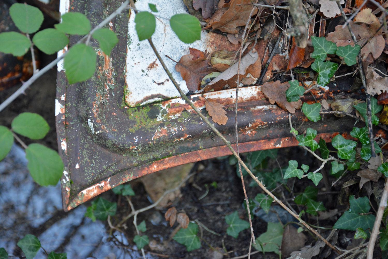 abandoned old car metal close-up