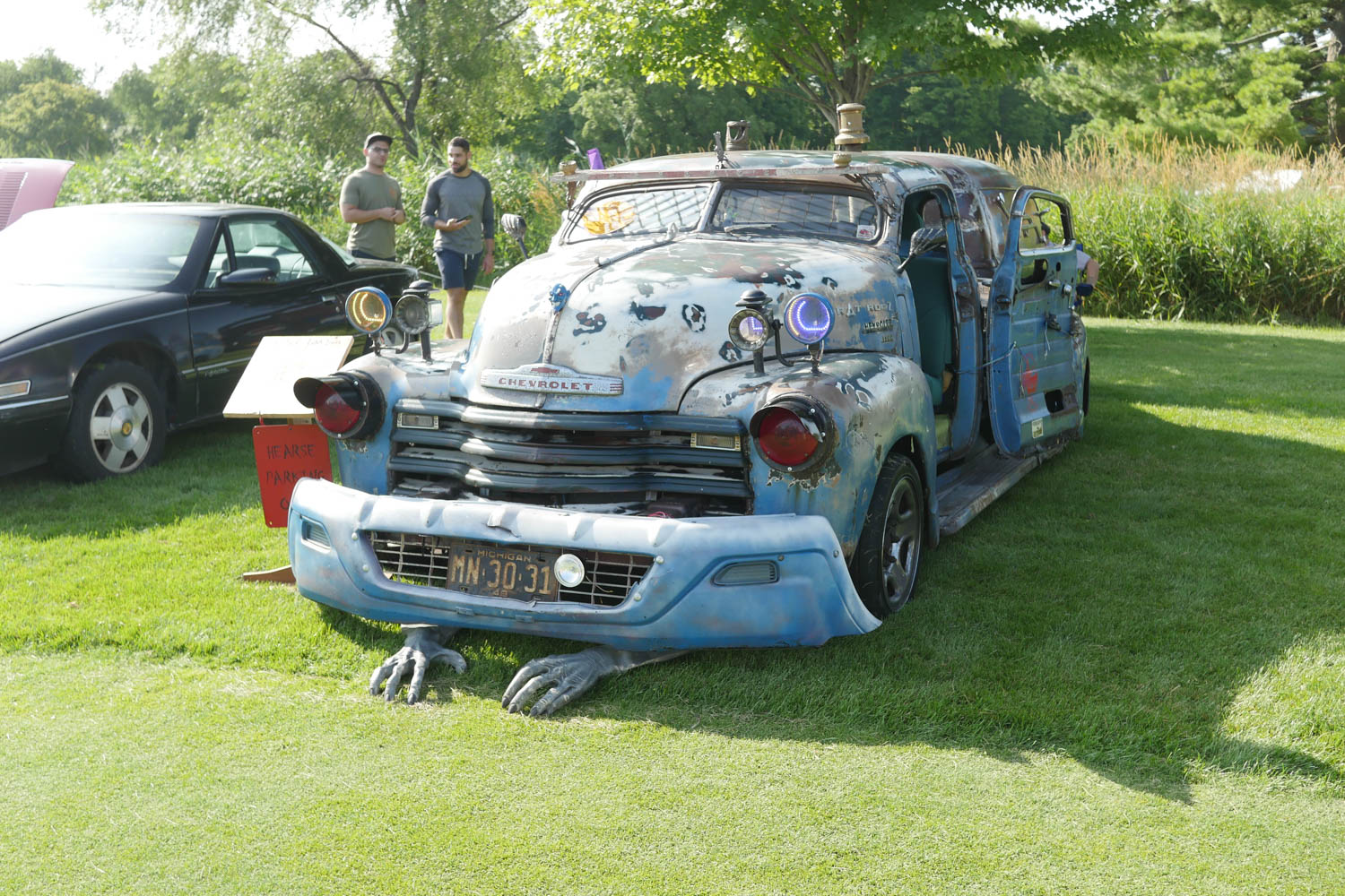 Will Door won Worst of Show at the 2018 Michigan Concours d'Lemons by scaring everyone at the show with his 1949/50 Rat Rod Truck/Hearse.
