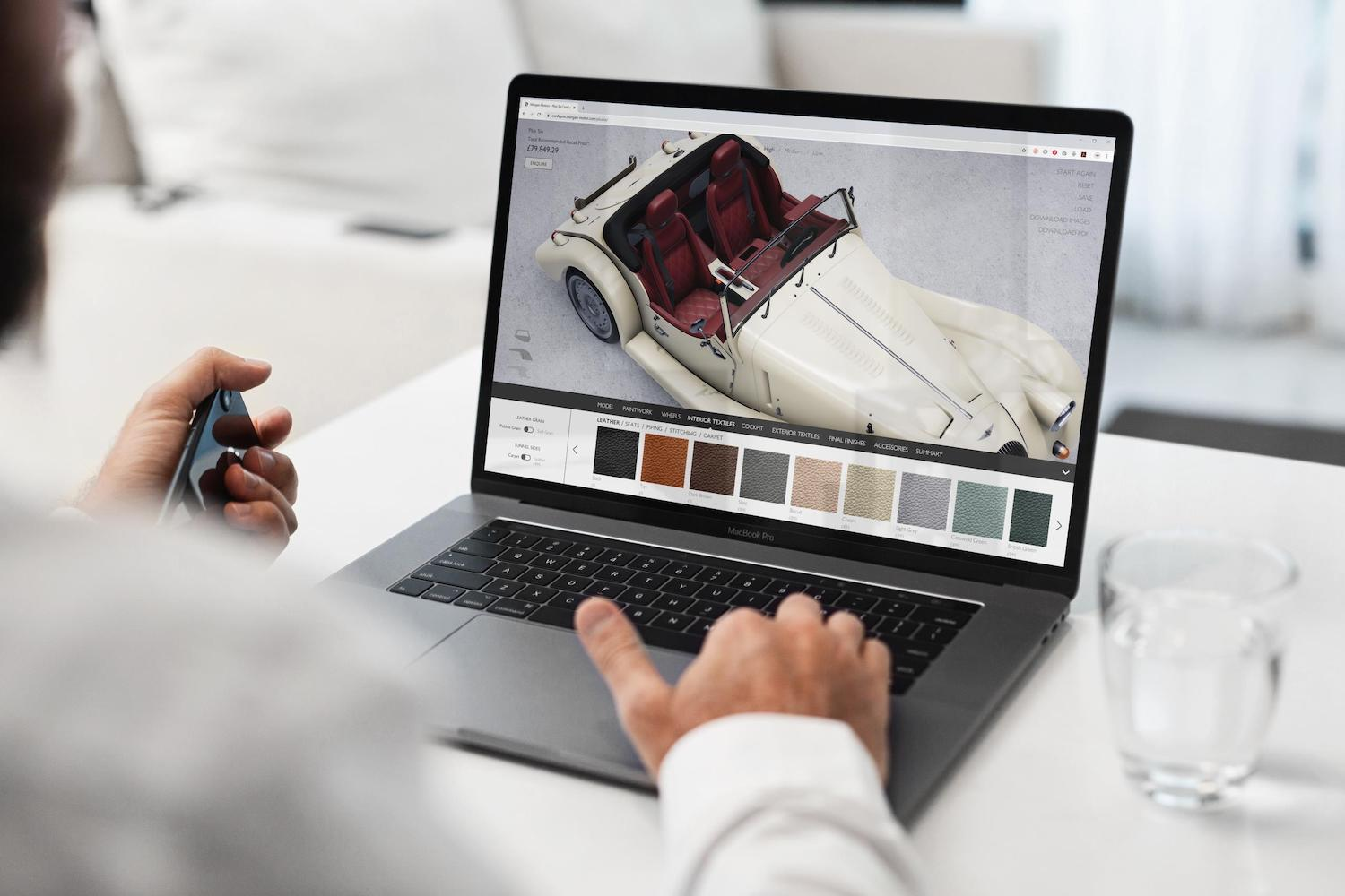 man using morgan site configurator software