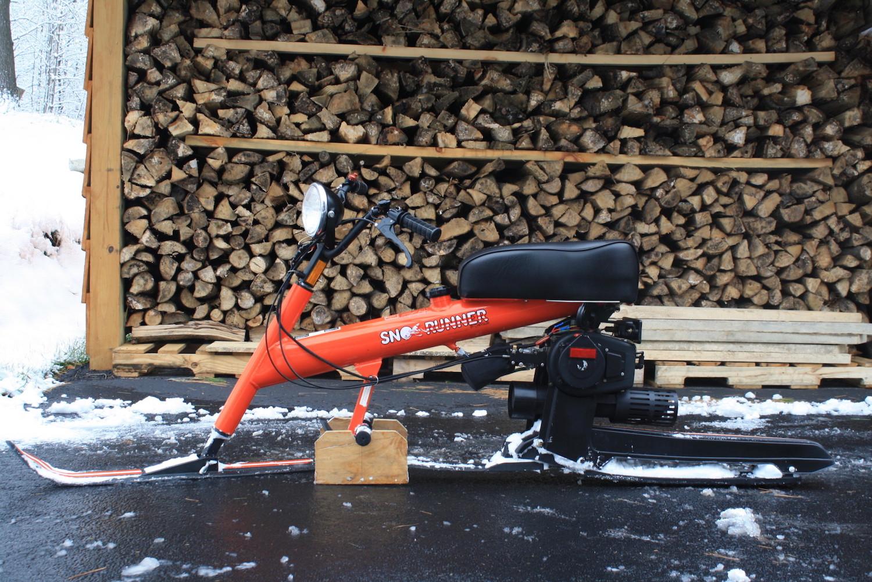 snow bike side-view