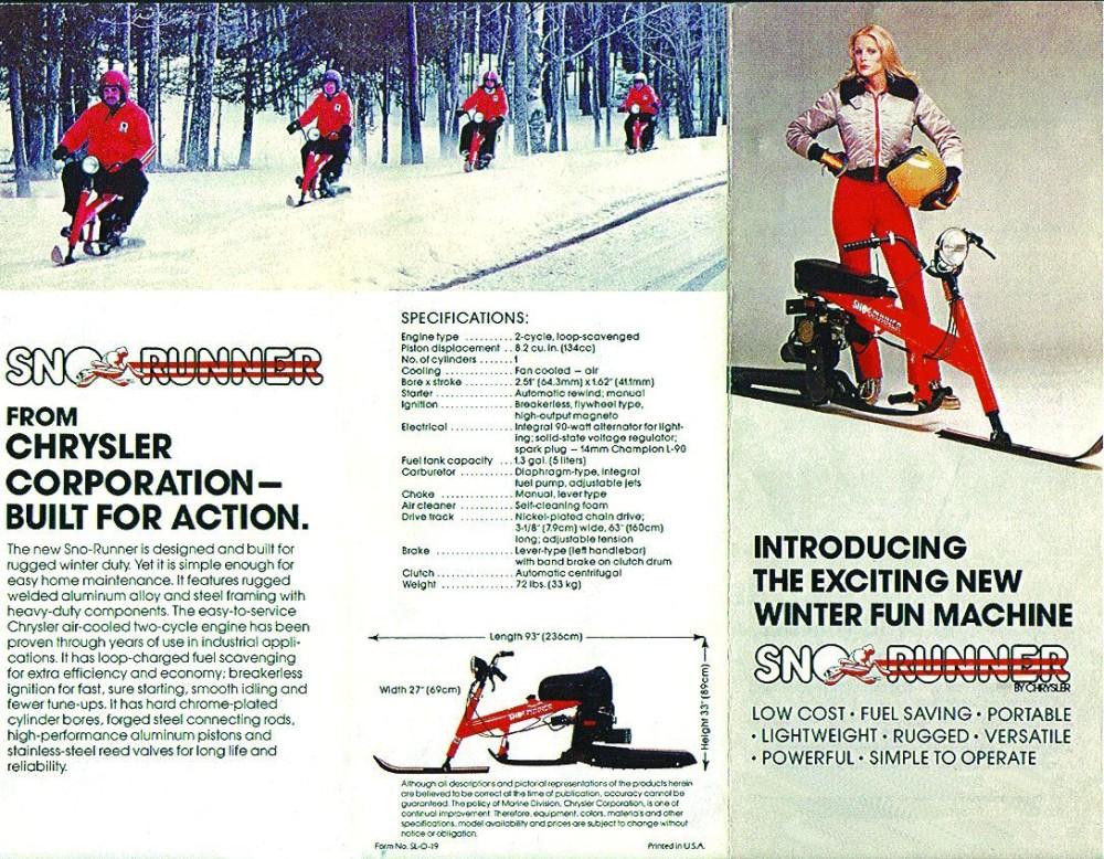 old chrysler ad for snow bike