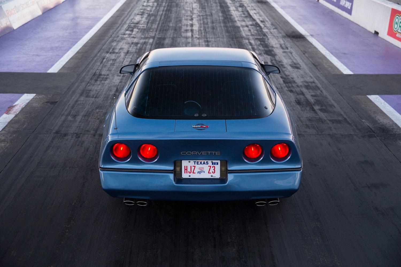 C4 Corvette overhead rear