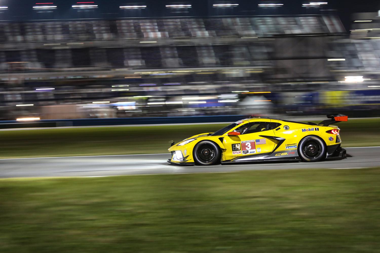 2020 Rolex 24 Daytona Corvette C8R Night