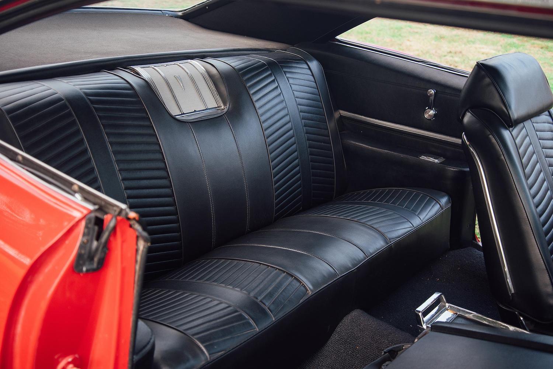 1966 red pontiac 2 plus 2 interior rear seat