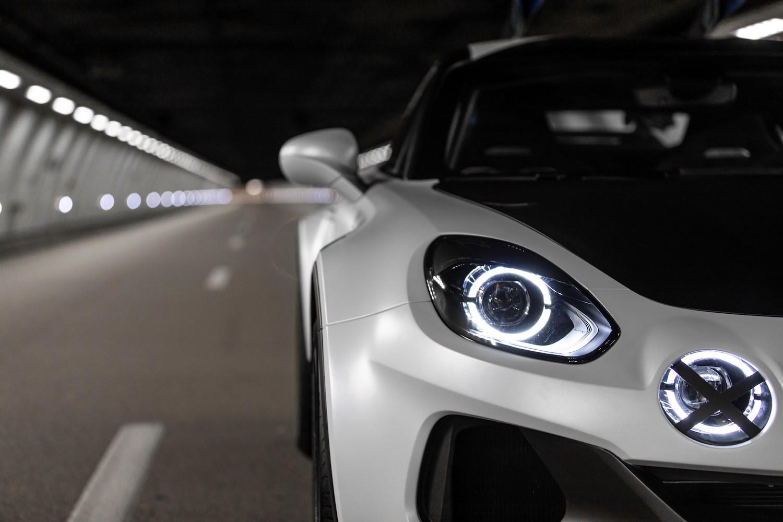 Alpine A110 SportsX front headlight