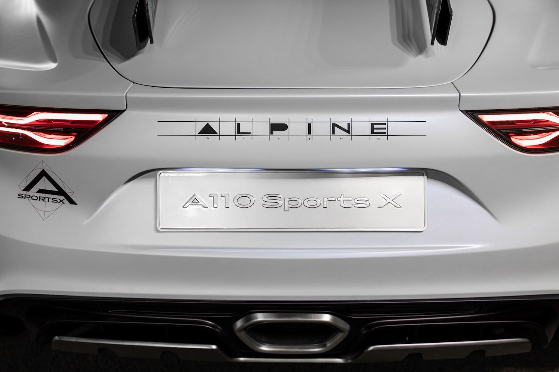 Alpine A110 SportsX rear close-up