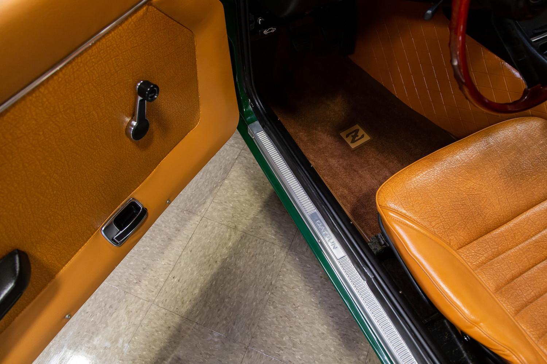 1971 Datsun 240Z Series I interior sill and seat