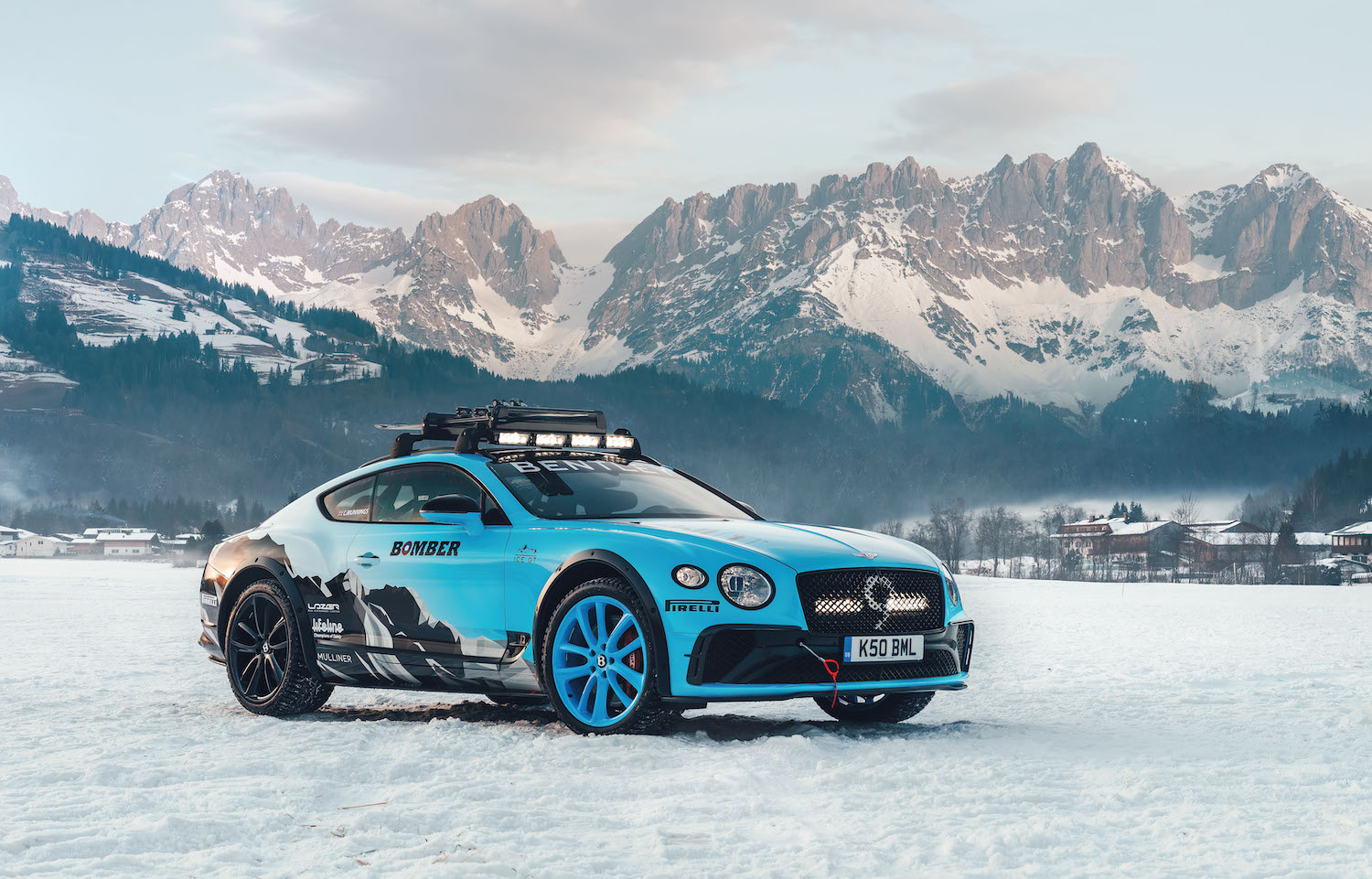 Bentley Continental GT Ice Race Car front three-quarter