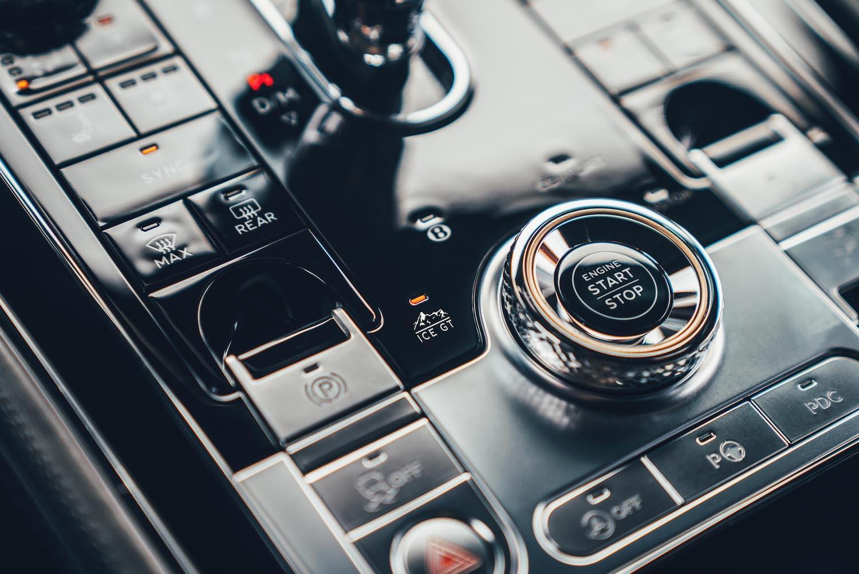 Bentley Continental GT Ice Race Car interior console