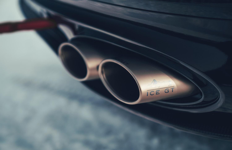 Bentley Continental GT Ice Race Car exhaust tips