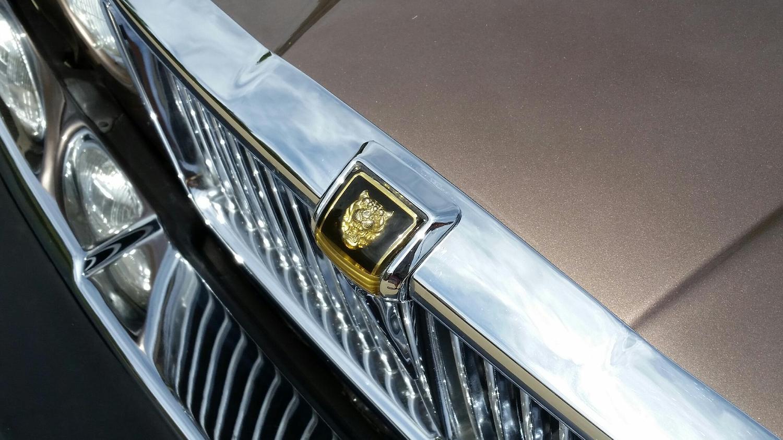 xj6 vanden plas front hood emblem