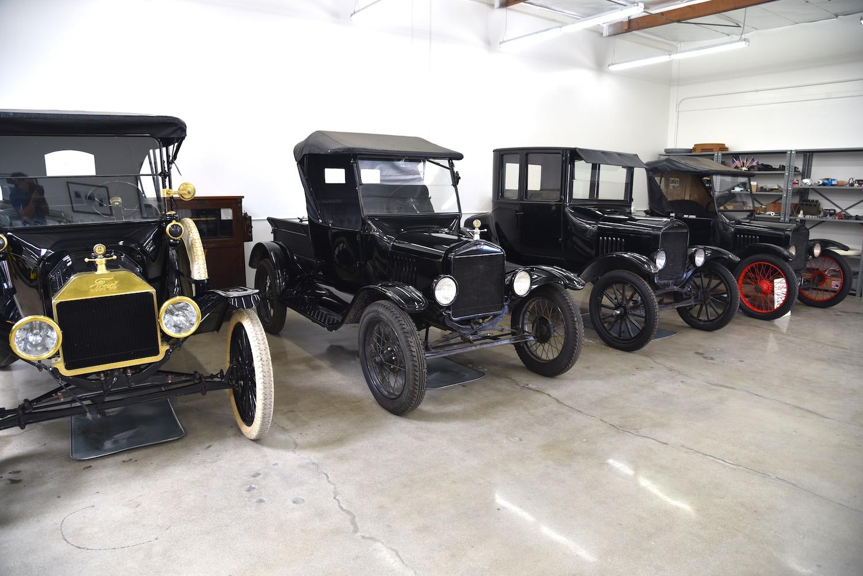 vintage fords in garage