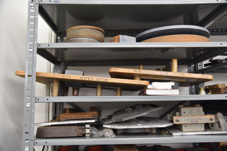 old car parts on shelf