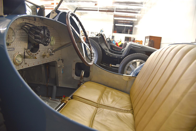 vintage bugatti interior