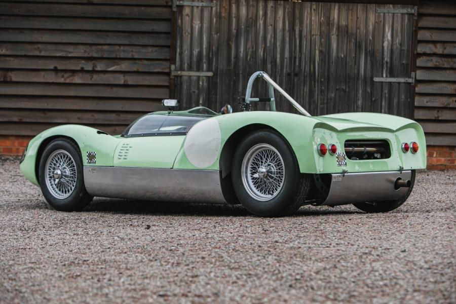 lotus race car rear three-quarter