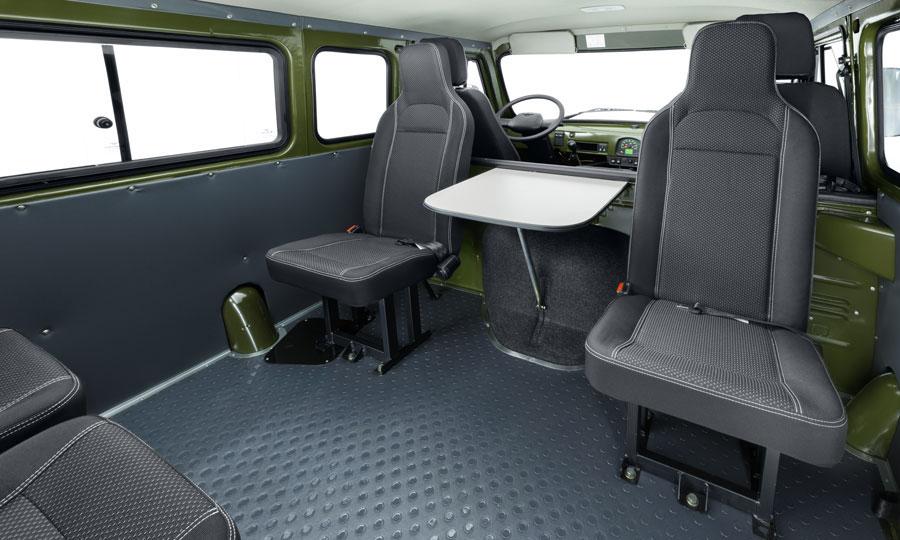 UAZ SGR Expedition interior seating