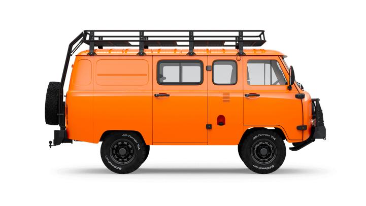 UAZ SGR Expedition orange side-view