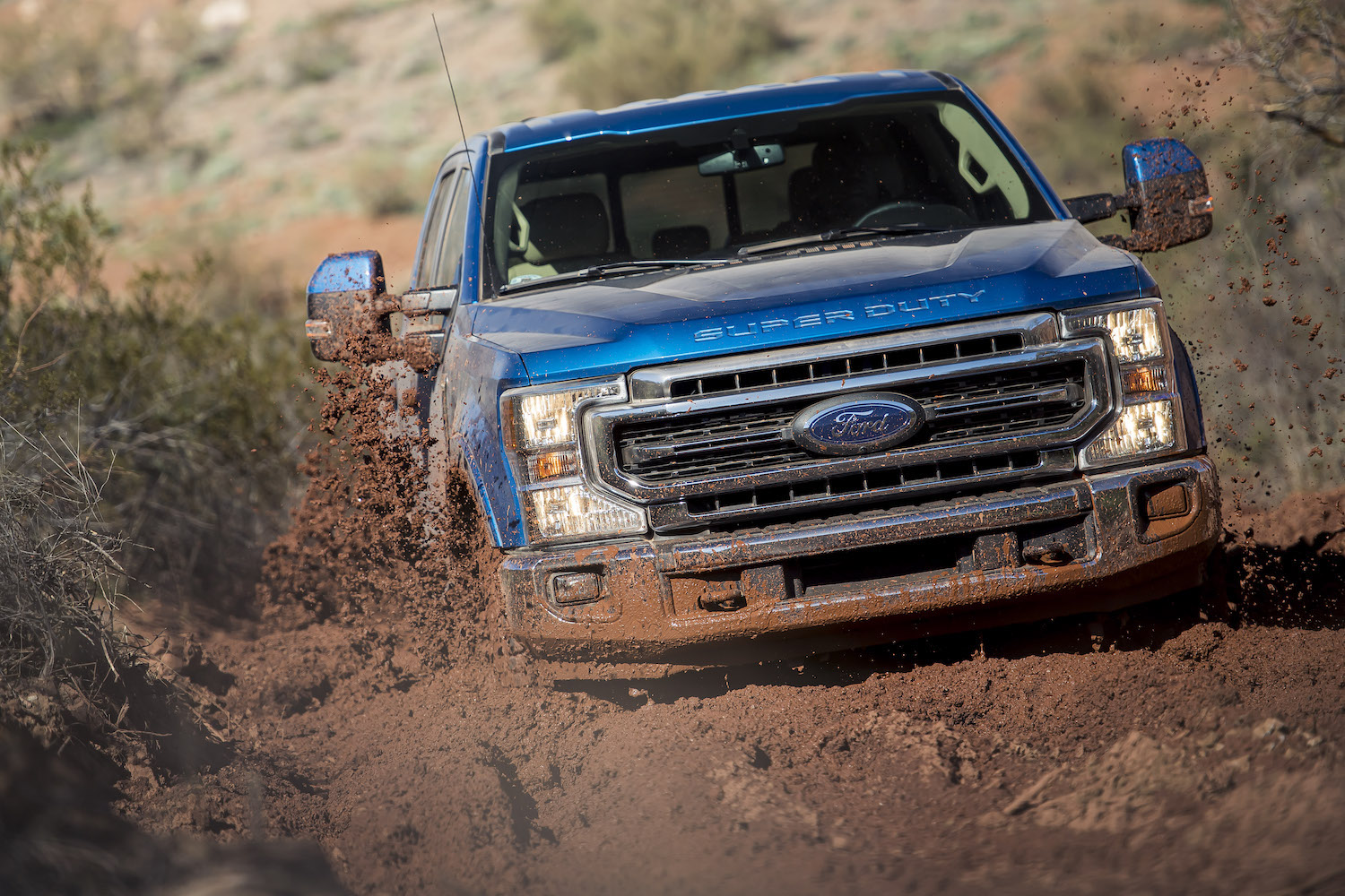 ford super duty front mudding action