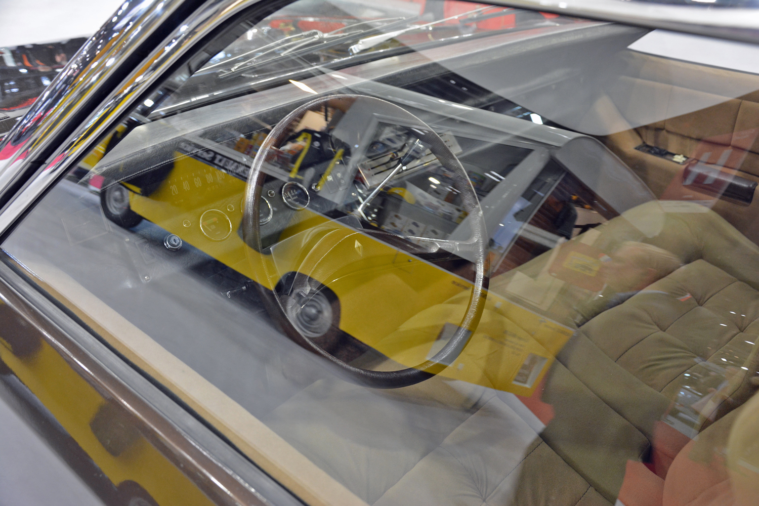 1967 Renault Project H interior view through window