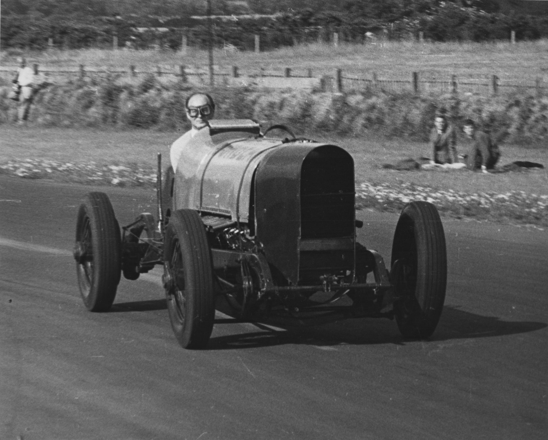 Lord Montagu in Sunbeam at Goodwood 1962