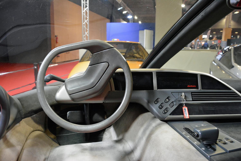 1988 Lamborghini Genesis interior steering wheel