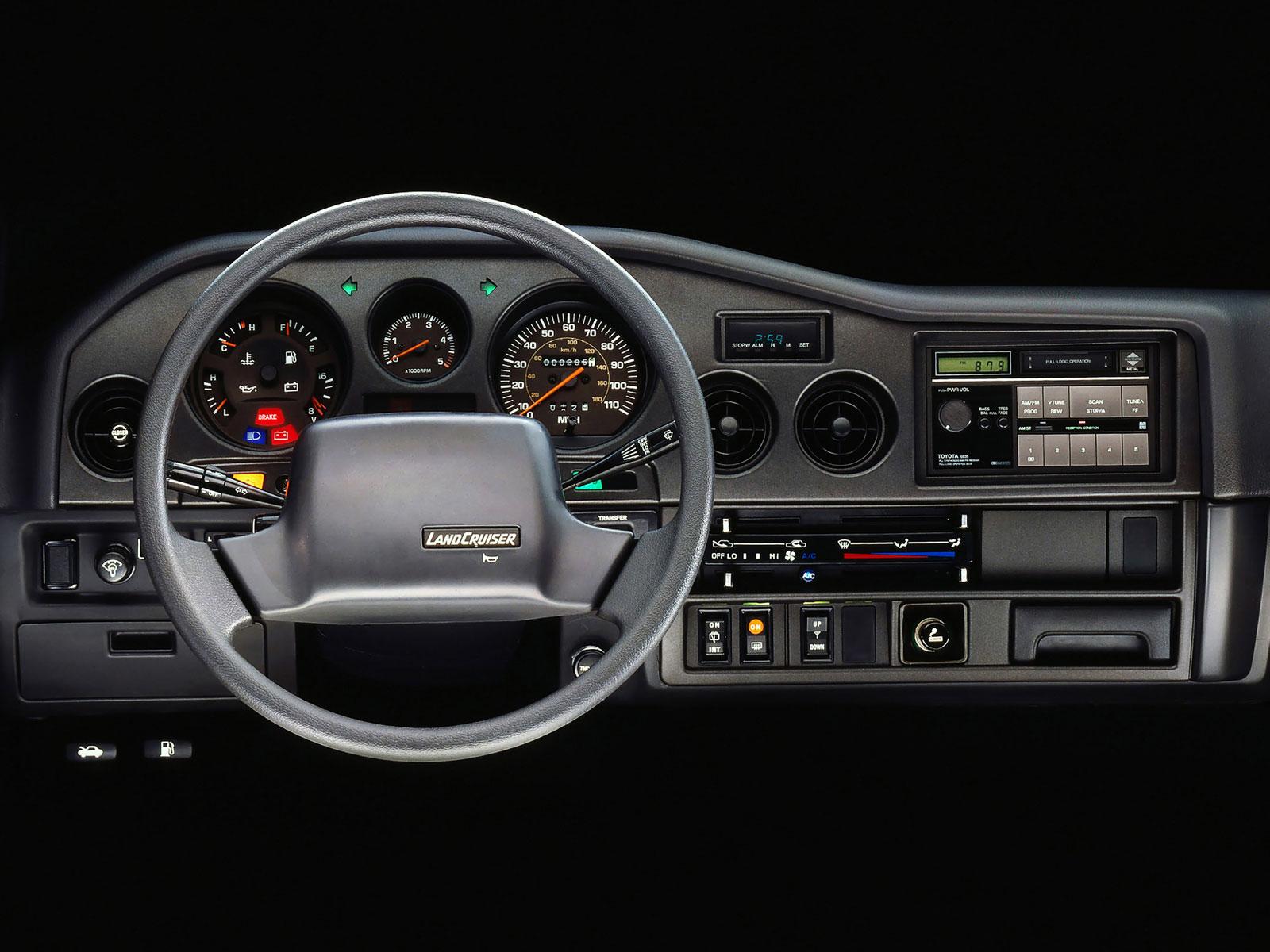 1987 Toyota Land Cruiser FJ60 dashboard