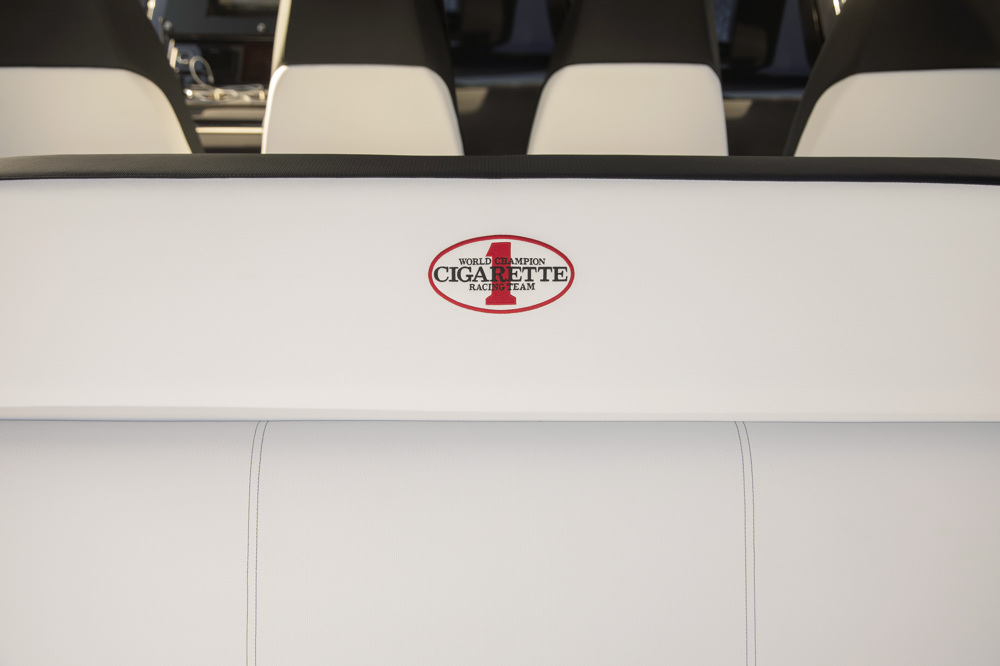 amg cigarette race boat interior embroidery logo