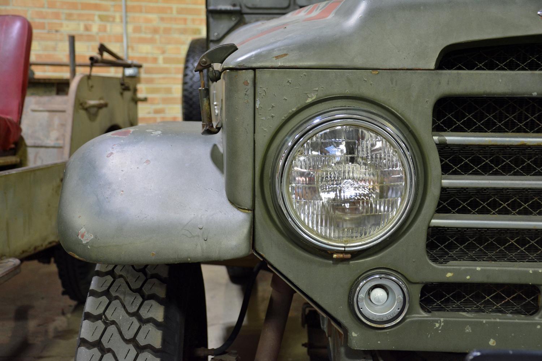1958 Toyota FJ25 front headlight