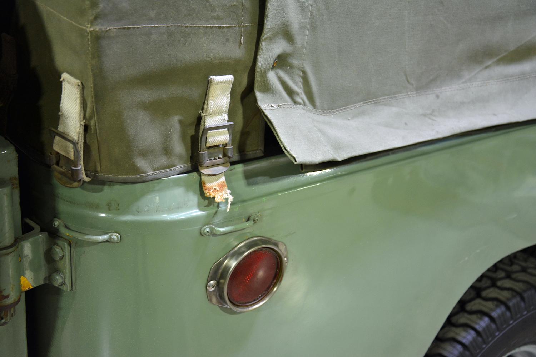 1963 Toyota FJ43 cover buckles closeup