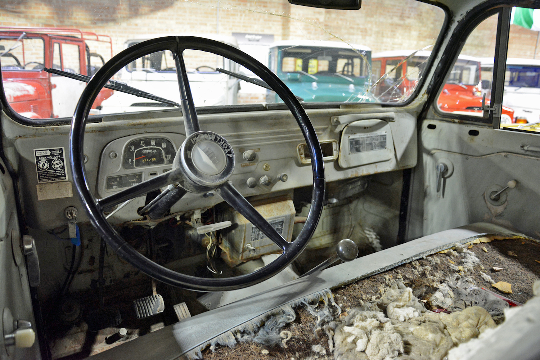 1965 Toyota FJ45LV interior wheel