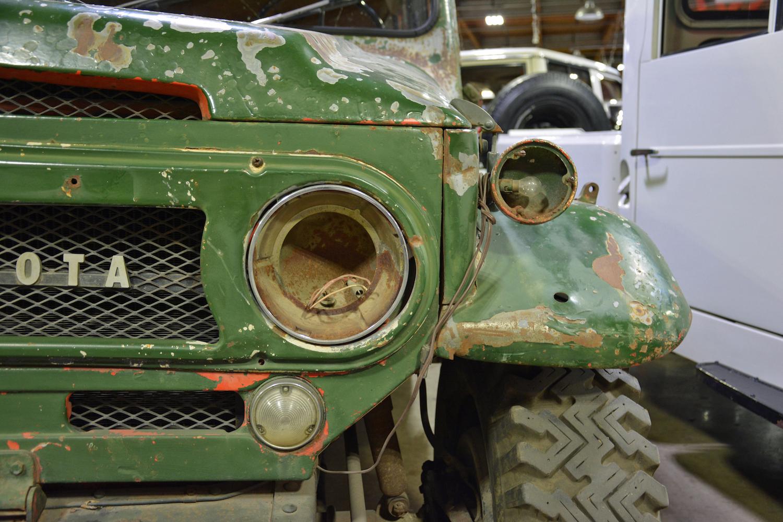 1965 Toyota FJ45LV front closeup