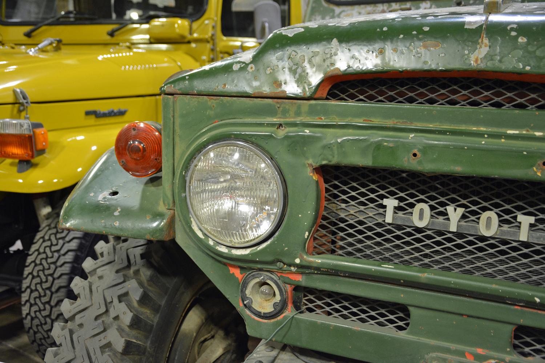 1965 Toyota FJ45LV closeup front lights