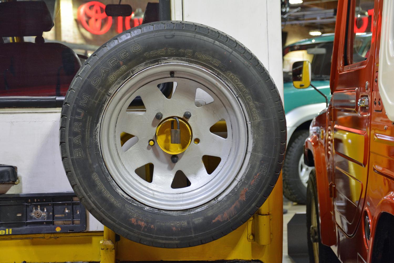 1982 Toyota Delta Mini Cruiser rear spare wheel